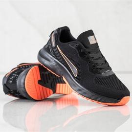 Mckeylor Sznurowane Buty Sportowe czarne pomarańczowe 4
