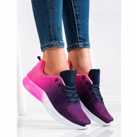 Bona Sneakersy Z Efektem Ombre fioletowe granatowe różowe 3