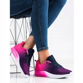 Bona Sneakersy Z Efektem Ombre fioletowe granatowe różowe 4