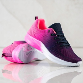 Bona Sneakersy Z Efektem Ombre fioletowe granatowe różowe 1