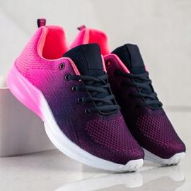 Bona Sneakersy Z Efektem Ombre fioletowe granatowe różowe 2