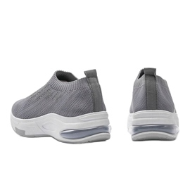 Szare sneakersy sportowe wsuwane Lolly 1