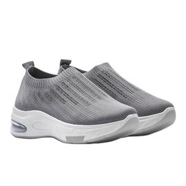 Szare sneakersy sportowe wsuwane Lolly 2