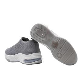 Szare sneakersy sportowe wsuwane Lolly 4