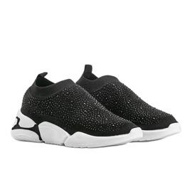 Czarne obuwie sportowe wsuwane Eva 1