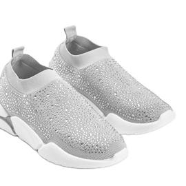 Srebrne obuwie sportowe wsuwane Eva srebrny 3