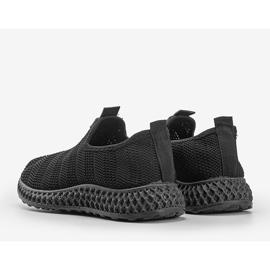 Czarne obuwie sportowe wsuwane Katy 2