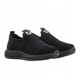 Czarne obuwie sportowe wsuwane Katy 3