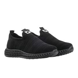 Czarne obuwie sportowe wsuwane Katy 5