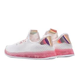 Biało różowe obuwie wsuwane Marley białe 2