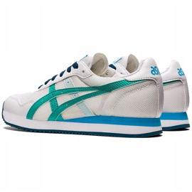 Buty dla dzieci Asics Tiger Runner Gs biało-niebieskie 1204A015 100 białe wielokolorowe 2