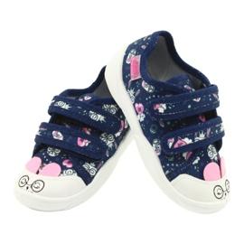Befado obuwie dziecięce  907P127 granatowe różowe 4