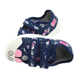 Befado obuwie dziecięce  907P127 granatowe różowe 5