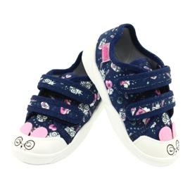 Befado obuwie dziecięce  907P127 białe granatowe różowe srebrny 3