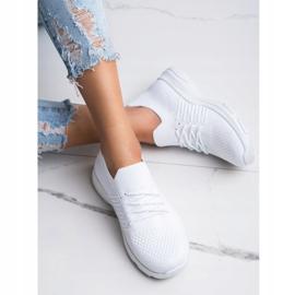 SHELOVET Wygodne Białe Buty Sportowe 3