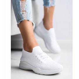 SHELOVET Wygodne Białe Buty Sportowe 4
