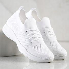 SHELOVET Wygodne Białe Buty Sportowe 1