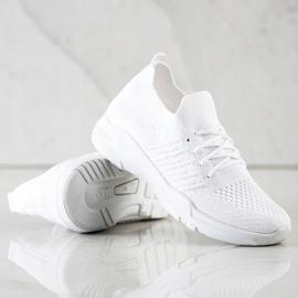 SHELOVET Wygodne Białe Buty Sportowe 2