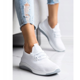 SHELOVET Casualowe Buty Sportowe białe 4