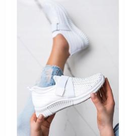 SHELOVET Buty Sportowe Z Kryształkami białe 2