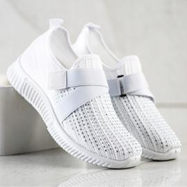 SHELOVET Buty Sportowe Z Kryształkami białe 3