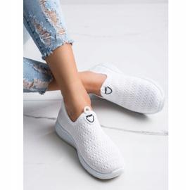 SHELOVET Lekkie Wsuwane Sneakersy białe 2