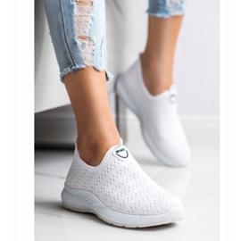 SHELOVET Lekkie Wsuwane Sneakersy białe 1