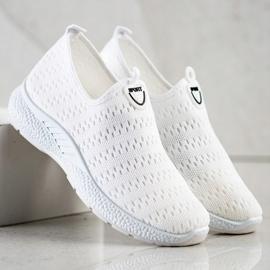 SHELOVET Lekkie Wsuwane Sneakersy białe 3