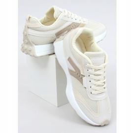 Buty sportowe beżowe 6115 Beige beżowy 1