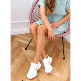 Buty sportowe wielokolorowe 6115 WHITE/PINK białe różowe 2