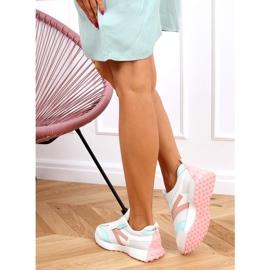 Buty sportowe wielokolorowe 6115 WHITE/PINK białe różowe 4