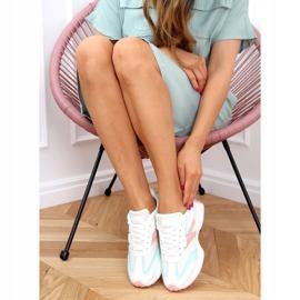 Buty sportowe wielokolorowe 6115 WHITE/PINK białe różowe 3