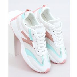 Buty sportowe wielokolorowe 6115 WHITE/PINK białe różowe 1
