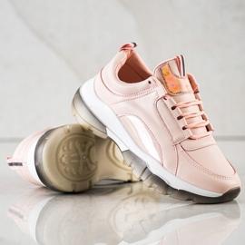 SHELOVET Różowe Sneakersy Z Eko Skóry 4