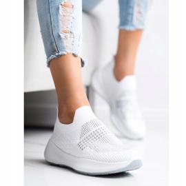 Renda Białe Sneakersy Z Kryształkami 2