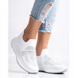 Renda Białe Sneakersy Z Kryształkami 3