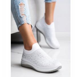 Renda Wsuwane Sneakersy Na Wiosnę białe 3