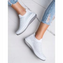 Renda Wsuwane Sneakersy Na Wiosnę białe 4