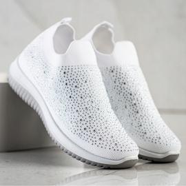 Renda Wsuwane Sneakersy Na Wiosnę białe 2
