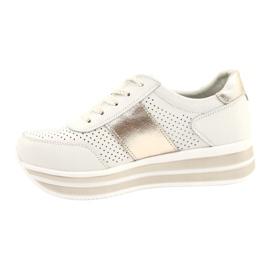 Sportowe buty damskie Filippo biało-złote białe złoty 1