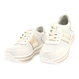 Sportowe buty damskie Filippo biało-złote białe złoty 2