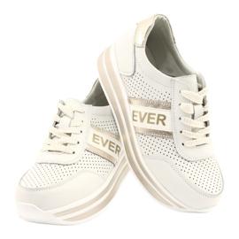 Sportowe buty damskie Filippo biało-złote białe złoty 4