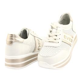 Sportowe buty damskie Filippo biało-złote białe złoty 3