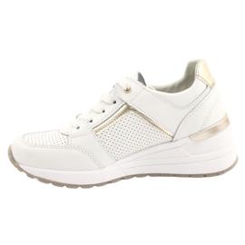 Sportowe buty damskie Filippo DP2003/21 białe złoty 1