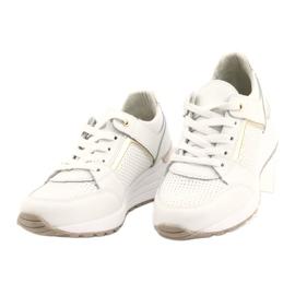 Sportowe buty damskie Filippo DP2003/21 białe złoty 2