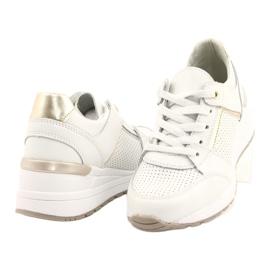 Sportowe buty damskie Filippo DP2003/21 białe złoty 3