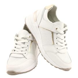 Sportowe buty damskie Filippo DP2003/21 białe złoty 4