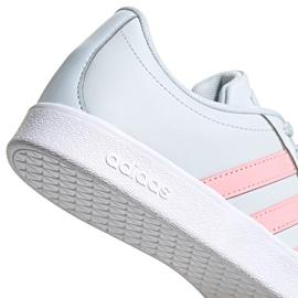 Buty dla dzieci adidas Vl Court 2.0 K niebiesko-różowe FY9151 niebieskie 5