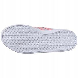 Buty dla dzieci adidas Vl Court 2.0 K niebiesko-różowe FY9151 niebieskie 3