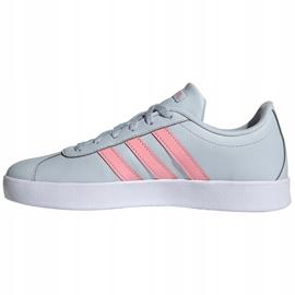 Buty dla dzieci adidas Vl Court 2.0 K niebiesko-różowe FY9151 niebieskie 1